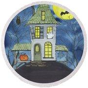 Spooky Halloween Round Beach Towel by Kathleen Parr Mckenna