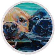 Stick It Round Beach Towel by Kimberly Santini