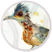 Stop And Smell What? Round Beach Towel by Dawn Derman