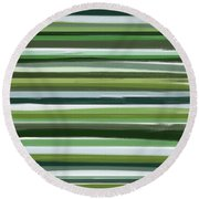 Summer Of Green Round Beach Towel by Lourry Legarde