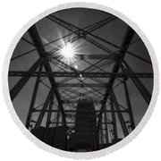 Summer Sun On Shelby Street Bridge Round Beach Towel by Dan Sproul
