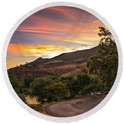 Sunrise At Woodhead Park Round Beach Towel by Robert Bales
