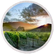 Wine Country Round Beach Towel by Jon Neidert