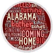 Sweet Home Alabama 4 Round Beach Towel by Paulette B Wright