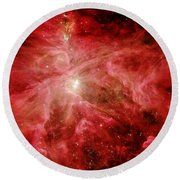 Sword Of Orion Round Beach Towel by Benjamin Yeager
