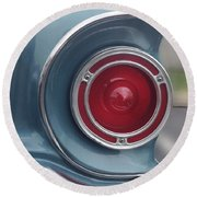 Tail Light Ford Falcon 1961 Round Beach Towel by Don Spenner