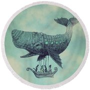 Tea At Two Thousand Feet Round Beach Towel by Eric Fan