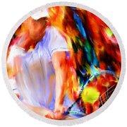 Tennis II Round Beach Towel by Lourry Legarde