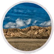 Textures Round Beach Towel by Cat Connor