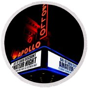 The Apollo Theater Round Beach Towel by Ed Weidman