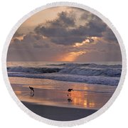 The Best Kept Secret Round Beach Towel by Betsy Knapp