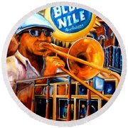 The Blue Nile Jazz Club Round Beach Towel by Diane Millsap