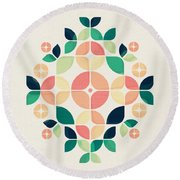The Bouquet Round Beach Towel by VessDSign
