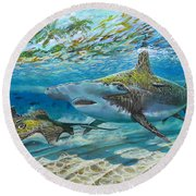 The Chase Round Beach Towel by Carey Chen