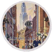 The Chrysler Round Beach Towel by Michael Young