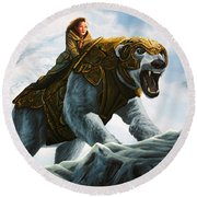 The Golden Compass  Round Beach Towel by Paul Meijering