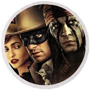 The Lone Ranger Round Beach Towel by Movie Poster Prints