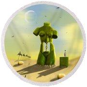 The Nightstand Round Beach Towel by Mike McGlothlen