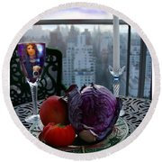 The Photographer Round Beach Towel by Madeline Ellis
