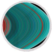 The Rings Of Saturn Round Beach Towel by Anonymous