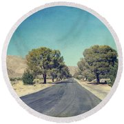 The Roads We Travel Round Beach Towel by Laurie Search