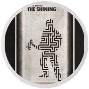 The Shining Round Beach Towel by Ayse Deniz