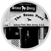 The Stone Pony Asbury Park Nj Round Beach Towel by Terry DeLuco