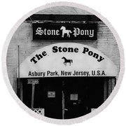 The Stone Pony Round Beach Towel by Colleen Kammerer