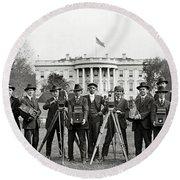 The White House Photographers Round Beach Towel by Jon Neidert