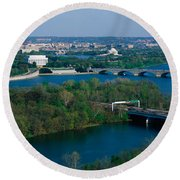 This Is An Aerial View Of Washington Round Beach Towel by Panoramic Images