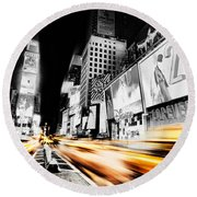 Time Lapse Square Round Beach Towel by Andrew Paranavitana