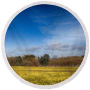 Times Like These Round Beach Towel by Laurie Search