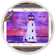 Together Round Beach Towel by Betsy Knapp