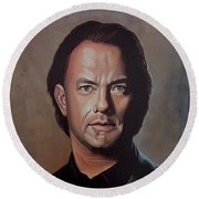 Tom Hanks Round Beach Towel by Paul Meijering