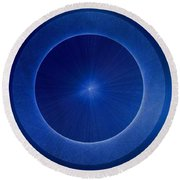 Towards Pi 3.141552779 Hand Drawn Round Beach Towel by Jason Padgett