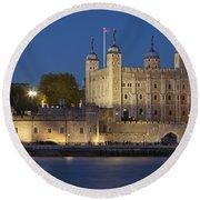 Tower Of London Round Beach Towel by Brian Jannsen