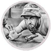 Tribute To Caddyshack Round Beach Towel by Greg Joens