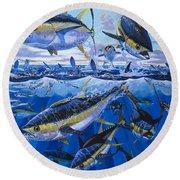 Tuna Rampage Off0018 Round Beach Towel by Carey Chen
