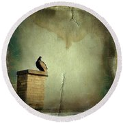 Turkey Vulture Round Beach Towel by Gothicolors Donna