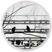 Two Is Better Round Beach Towel by Gothicolors Donna