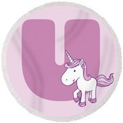 U Round Beach Towel by Gina Dsgn