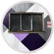 Urban Window- Photography Round Beach Towel by Linda Woods