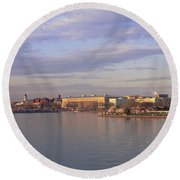 Usa, Washington Dc, Tidal Basin, Spring Round Beach Towel by Panoramic Images