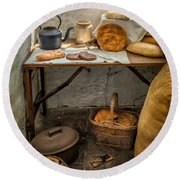 Victorian Bakers Round Beach Towel by Adrian Evans