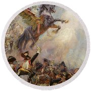 Victory Round Beach Towel by Jean-Baptiste Edouard Detaille
