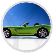 Viper Roadster Round Beach Towel by Douglas Pittman