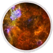 Round Beach Towel featuring the photograph W3 Nebula by Science Source
