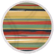 Warmth It Gives Round Beach Towel by Lourry Legarde