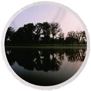 Washington Dc Round Beach Towel by Panoramic Images