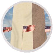 Washington Monument Washington Dc Usa Round Beach Towel by Panoramic Images